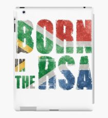 Born in the RSA - funny artwork for South African expats iPad Case/Skin