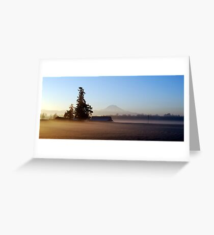 Misty Autumn Morning  Greeting Card