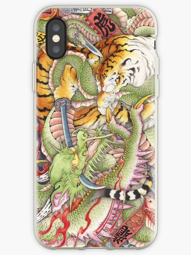 Tigers vs Dragons by yakudo-kan