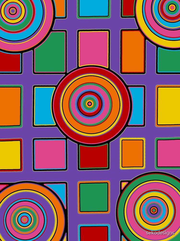 Retro Art - Vivid Colour #13 by sekodesigns