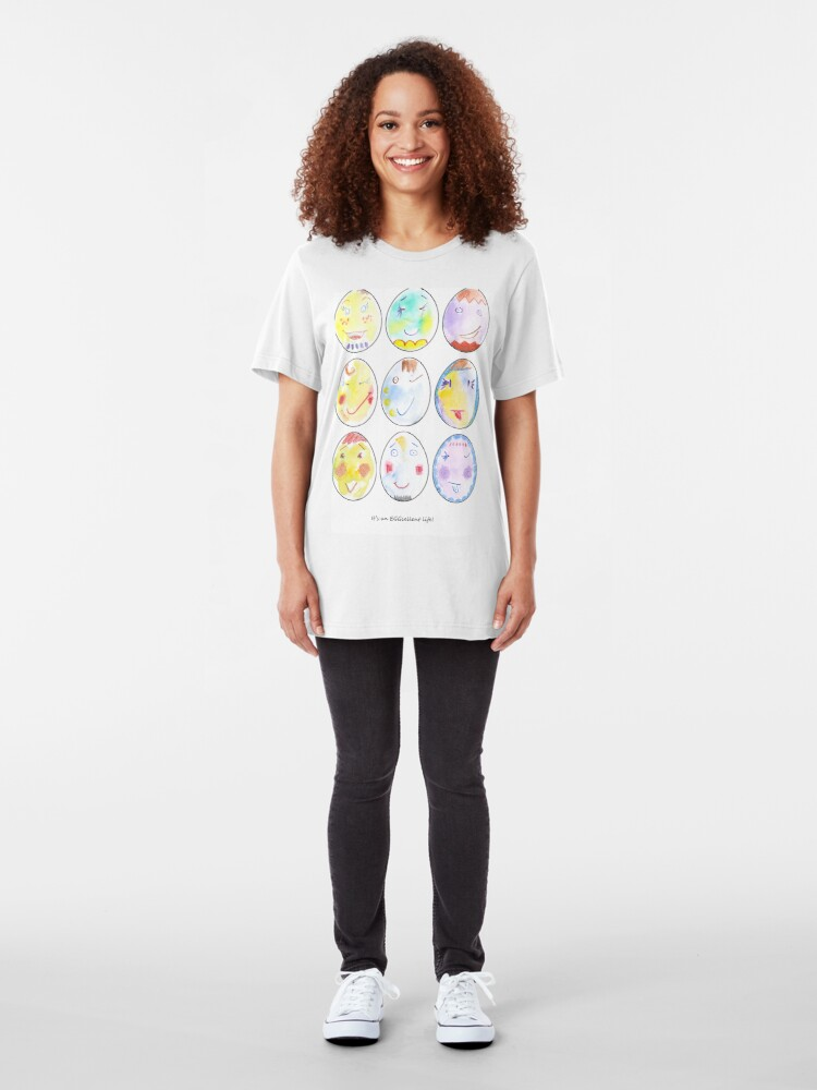 Alternate view of It's an EGGcellent life! Slim Fit T-Shirt
