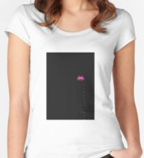 Invader of Space  Women's Fitted Scoop T-Shirt