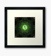 Green Tara Mantra- Protection from dangers and suffering. Framed Print