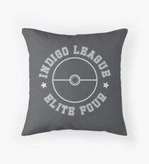 Pokemon - Indigo League Elite Four Throw Pillow