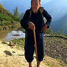 Hilltribe man near Mt Fansipan, Hoang Lien Son Range, North Vietnam by Bev Pascoe