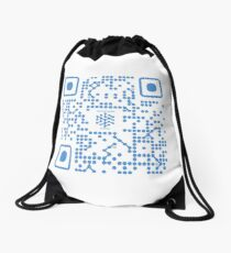 QR SafeNetwork Primer Drawstring Bag