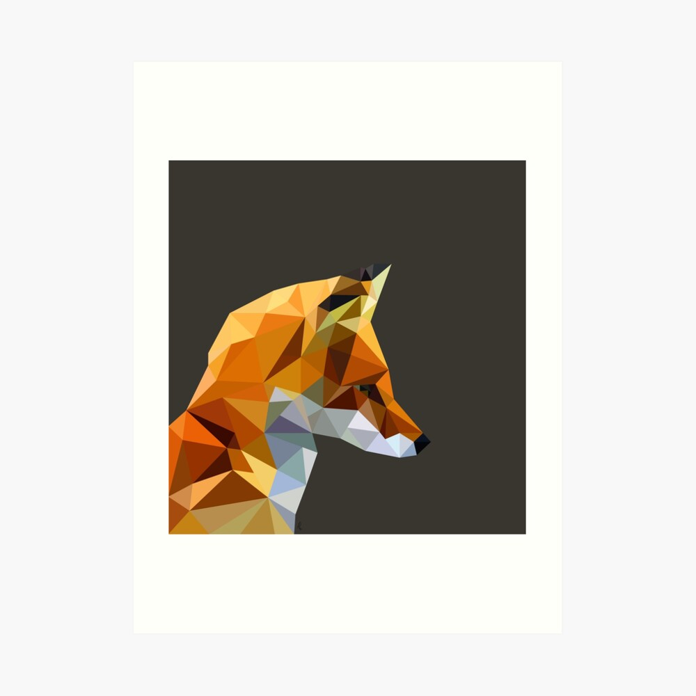 LP Fox Art Print