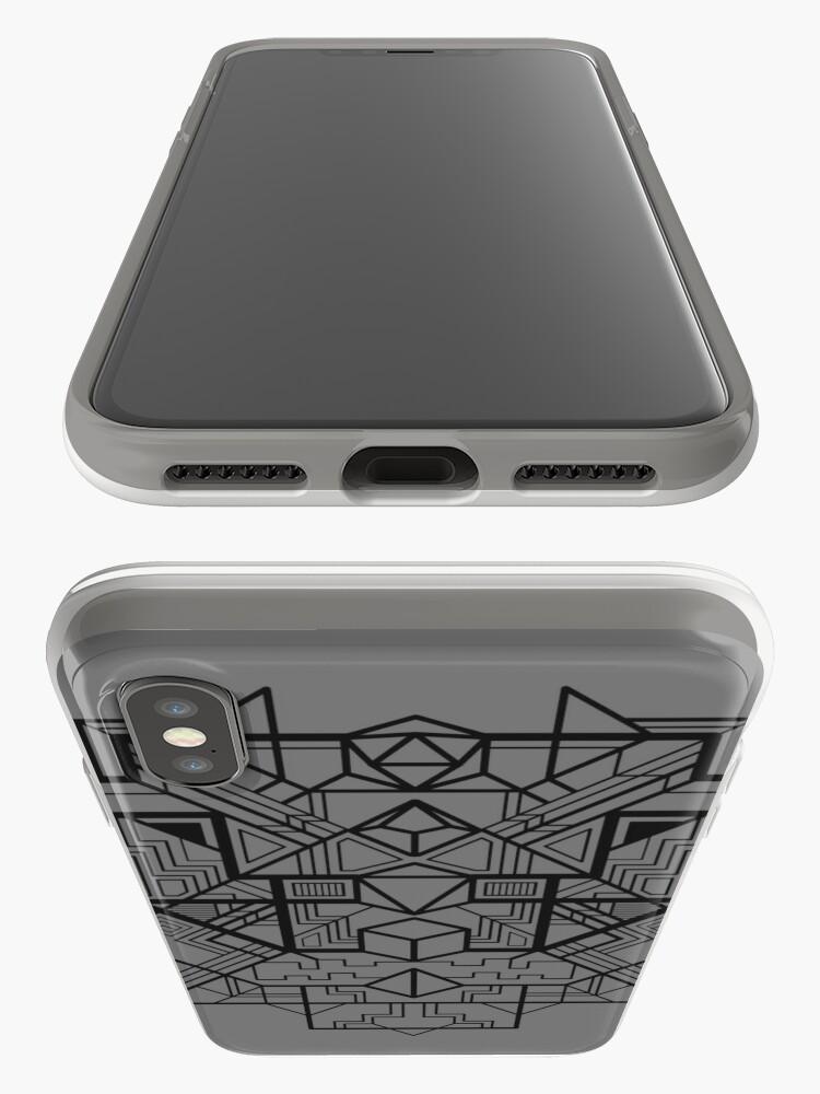 Alternative Ansicht von Würfel Deco Schwarz iPhone-Hülle & Cover