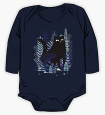 The Ferns (Black Cat Version) Long Sleeve Baby One-Piece