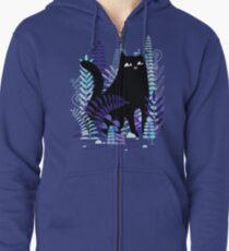 The Ferns (Black Cat Version) Zipped Hoodie