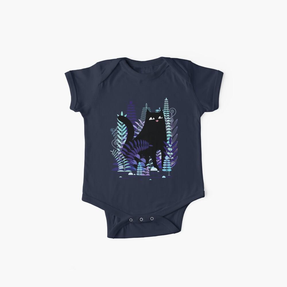 Los helechos (Black Cat Version) Bodies para bebé