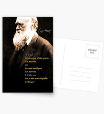 Charles Darwin Quote 3 Postcards