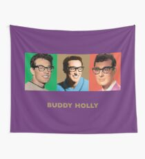 Buddy Holly - Triptych Design Wall Tapestry