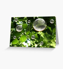 Bulles Greeting Card