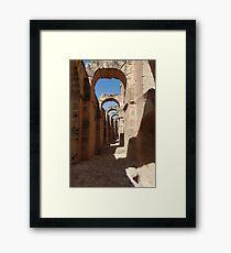 ancient ruins Framed Print