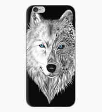 Der weiße Wolf Mandala - Schwarz iPhone-Hülle & Cover