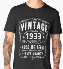 85th Birthday Gift T Shirt Vintage 1933 Edition Mens Premium