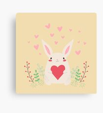 Cute Cartoon Rabbit Canvas Print