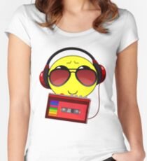 MIXED TAPE MUSIC LOVER CHARACTER Women's Fitted Scoop T-Shirt