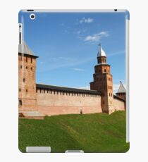 fortress wall of the Novgorod Kremlin iPad Case/Skin