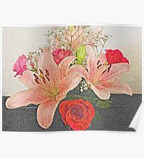 Mosaic Bouquet Poster
