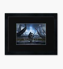 Valhalla Odin Thor Hammer mit Trinity Dreiecken Gerahmtes Wandbild