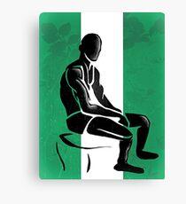 Custom Stencil Man - Nigeria  Canvas Print