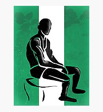 Custom Stencil Man - Nigeria  Photographic Print