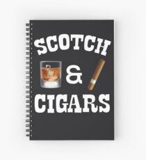 Cuaderno de espiral Escocés y cigarros bebedores y fumadores