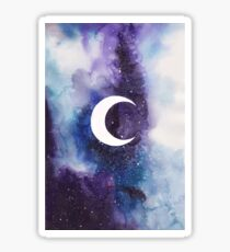 space (crescent moon) Sticker