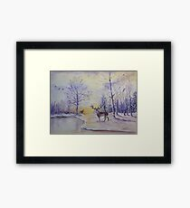 Dawn Forage Framed Print