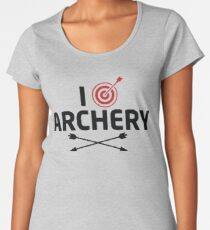 I Love Archery Women's Premium T-Shirt