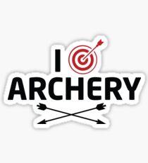I Love Archery Sticker