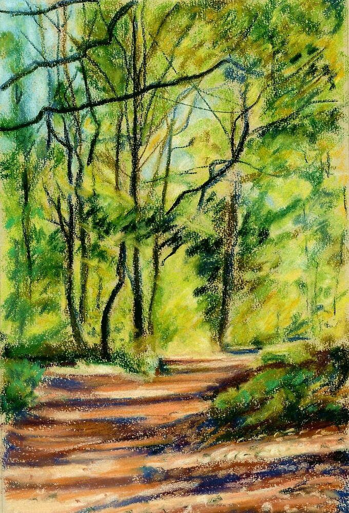 Autumn in the Queenswood, Herefordshire by Judy Adamson