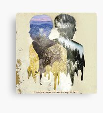 "Dan & Phil ""You're next to me in my life"" Print Canvas Print"