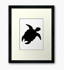 Ocean turtle Framed Print