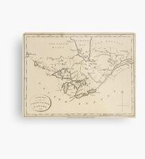 Vintage Map of The Great Lakes (1794) Metal Print