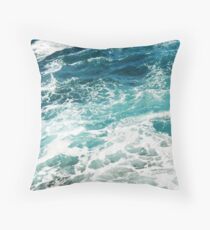 Blue Ocean Waves  Floor Pillow
