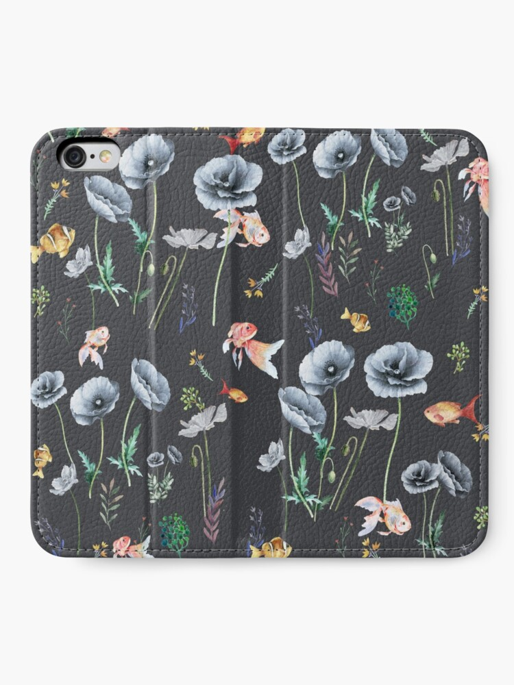 Alternate view of Fishes & Garden iPhone Wallet