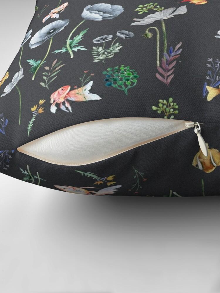 Alternate view of Fishes & Garden Throw Pillow