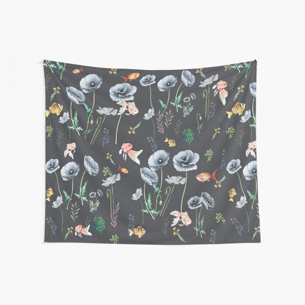 Fishes & Garden Wall Tapestry