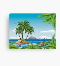 Tropic island 2 Canvas Print