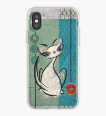 Mid Century Modern: Lil Miss Purrfect iPhone Case
