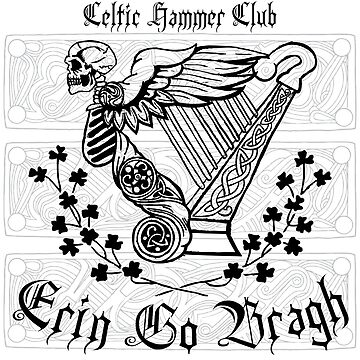 """Angel of Death"" Celtic Harp by celthammerclub"