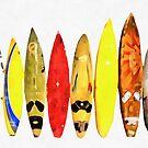 Surf Boards Artwork by Edward Fielding