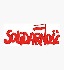 SOLIDARNOSC / SOLIDARITY FROM POLAND (RED) Photographic Print