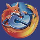 Firefox IE Logo Tee by barnsleynut