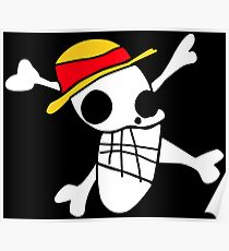 Luffy's Draw Straw Hat Jolly Roger Poster