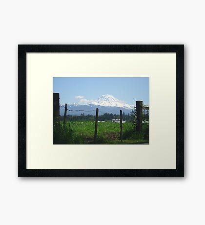 Rainier Country Framed Print