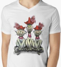 Cats in Red Hats Men's V-Neck T-Shirt